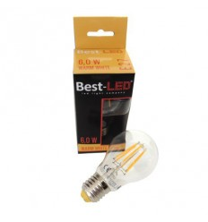 BEST-LED Filament žárovka E27, 240V, 6W, 620lm, 2700K
