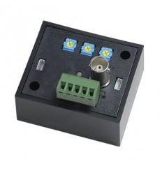 Balun BNC/UTP, přijímací zesilovač pro HD-CVI/AHD 1080p,75/100, TX, 1x video, korekce jas/kontrast
