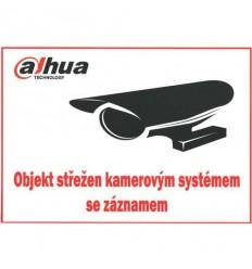 Bezpečnostní tabulka pro kamerové systémy Dahua, bílá, 210x150mm