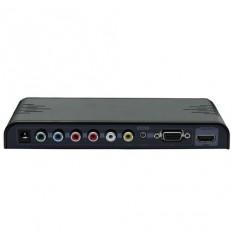 Konvertor VGA+YPbPr+CVBS+audio na HDMI, 1x VGA in, 1x YPrPb, 1x CVBS, 1x HDMI out.
