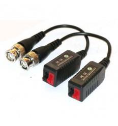 Balun BNC/UTP, pasivní, BNC/rychlosvorka, 75/100ohm, miniaturní, s kabelem, kus, i pro AHD/CVI/TVI