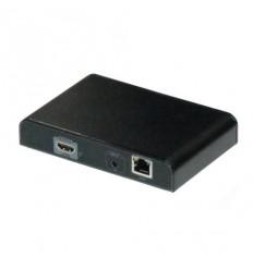 HDMI přenos po LAN, přijímač, UDP/Multicast, 1080p, PoE 802.3af napájení