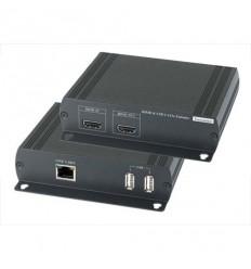 CAT5 HDMI + USB extender, dosah 120m, HDMI 1.3, 2x USB 2.0 jednosměrně, cena za pár