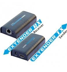 HDMI přenos po LAN,vysílač a přijímač, UDP/Multicast, 1080p, cena za pár
