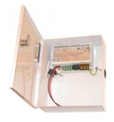 Zdroj, 24-28V DC, 2 porty, 2,5A, 70W,skříňka na stěnu, zálohovatelný baterií