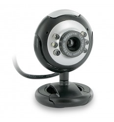 4World Webkamera 2M LED USB Black/Silver