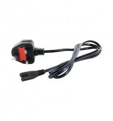 4World Napájecí kabel k NTB 2žilový 1.5m Black UK