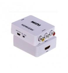 Převodník HDMI na kompozitní video a audio, PAL/NTSC, HDMI do 1920x1080, výstup volitelný přepínačem