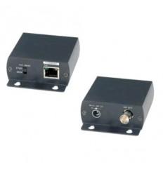 PoE extender pro přenos ethernetu 10/100Mb a napájení po koaxiálním vedení. Dosah 500m. Pár.