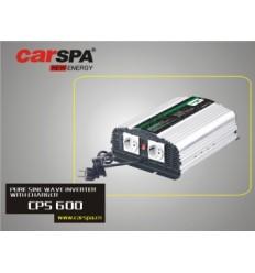 Měnič napětí Carspa CPS600 12V/230V 600W, čistá sinus, s nabíječkou 12V/10A a funkcí UPS