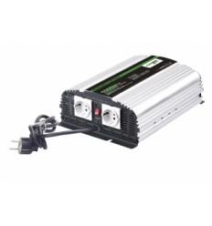 Měnič napětí Carspa CPS1000 12V/230V 1000W, čistá sinus, s nabíječkou 12V/10A a funkcí UPS