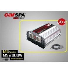 Měnič napětí Carspa MSD2000UR 24V/230V+USB 2000W, mod.sin, dálkové ovládání+digital display