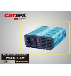 Měnič napětí Carspa P400U-122 12V/230V+USB 400W, čistá sinusovka