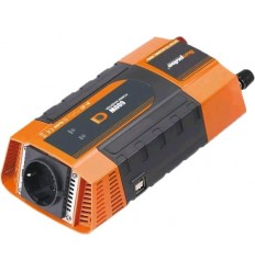 Měnič napětí Carspa PID400 12V/230V+USB 400W, modifikovaná sinus, digitální display