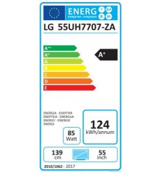 "LG 55"" LED TV 55UH7707 SUPER 4KUHD/DVB-T2CS2"