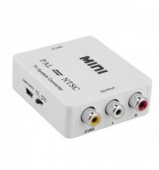 Převodník PAL/NTSC/SECAM na PAL/NTSC, nastavení výstupu přepínačem