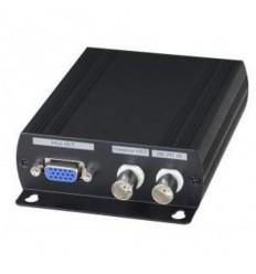 Převodník AHD/TVI/CI/CVBS na HDMI/VGA/CVBS, do 1920x1080, 1x smyčkový výstup, 2x BNC