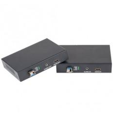HDMI, audio, KVM/USB přenos po optice , nekompresovaný,real-time, 1080p, pár, včetně SFP+ modulů