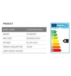 25x Zářivka Lira TB Energy T8 18W 60cm, 6500K