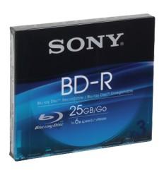 Média BLU-RAY -R SONY 25GB, 3 ks Recordable SLIM