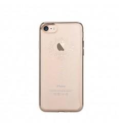 Pouzdro DEVIA motiv Iris pro iPhone 7 champagne gold