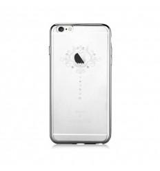 Pouzdro DEVIA motiv Iris pro iPhone 6/6S stříbrné
