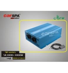 Měnič napětí Carspa SK3000UR-242 24V/230V+USB 3000