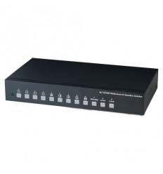 HDMI multiviewer/kvadrátor, 4 vstupy / 1 výstup, do 1080p, 6 režimů výstup, IR ovladač