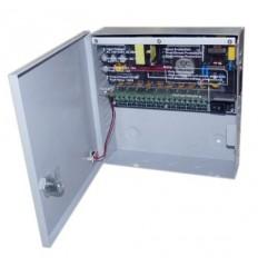 Zdroj pro analog. kamery, 11-14V DC nastavitelné, 9 port,10A,120/145W, PTC, skříňka