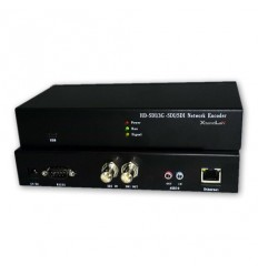 IP HD enkoder, realtime, 1x HD-SDI in, audio in/out, H.264, TS stream, fanless