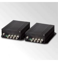 VF-402-KIT opto konvertor 4x Video, 4x RS-485, FC konektor,singlemode, po jednom vlákně, cena za pár