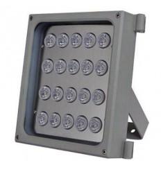 Infra osvětlení, 850nm, 50-75m, venkovní, 12V DC, úhel 120 st, 46W, IP66