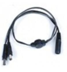 Napájecí kabel s dvěma napájecími JACK konektory (2,1mm) pro kamery a přípojnou JACK samice