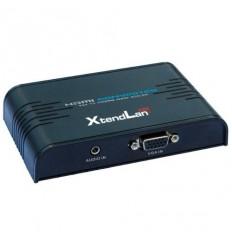 Konvertor VGA+stereo na HDMI, 1x VGA in, 1x HDMI out