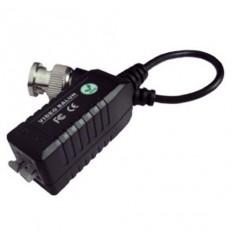 Balun BNC/UTP, pasivní, BNC/rychlosvorka, 75/100ohm, miniaturní, s kabelem, kus