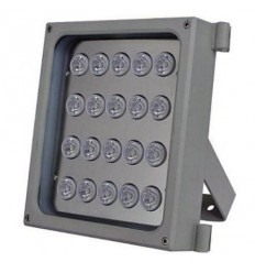 Infra osvětlení, 850nm, 90-130m, venkovní, 12V DC, úhel 90 st, 46W, IP66