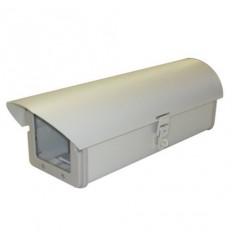 Kryt na kameru, vyhřívaný, cirkulace, venkovní, kovový, odklopný do strany, 12V, pro kameru až 200mm