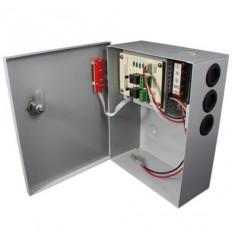 Zdroj, 12V DC, 1 port, 5A celkem, 60W,skříňka, zálohovatelný baterií, relé porty