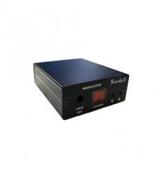TV modulátor video+audio, laditelný, LED displej, 100dBuV, UHF, PAL D/K, 51.-95. kanál