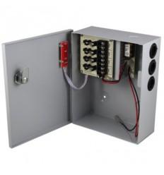 Zdroj, 12V DC, 4 porty, 3A celkem, 36W, tavn. pojistky,skříňka, zálohovatelný baterií