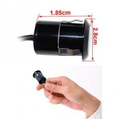 Miniaturní barevná kamera, venkovní, CCD 1/4 palce , 420 ř., dveřní/do panelu, zrcadlený obraz, 105 st.