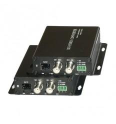HD-SDI a RS-485 optický převodník, SFP, včetně lokálního HD-SDI opakovače, pár
