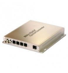Optický konvertor, 5x telefonní linka, FXO - FXS, pro dvě vlákna, 40km dosah, cena za pár