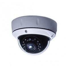 AHD/PAL dome kamera, Sony 2,43Mpix,1/2.8 palce , 0.1lux, ICR 2,8-12mm, autoiris, OSD, IR&lt15m, IP65, bílá