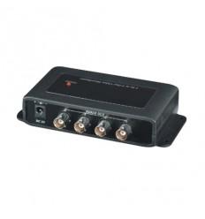 Video rozbočovač/zesilovač 1:4, BNC konektor, i pro HD-CVI/AHD