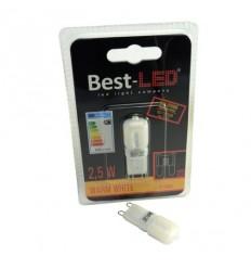 BEST LED žárovka G9, 240V, 2,5W, 220lm, 3000K