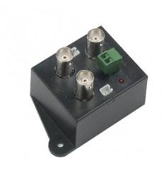 Video rozbočovač/zesilovač 1:2, BNC konektory, i pro HD-CVI/AHD do 720p
