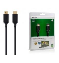 BELKIN HDMI - HDMI 1.4 AV kabel Gold, černý, 15 m