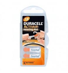 Baterie Duracell DA13, ZA13, 13A, DA13N, PR13, PR48, V13A, R13ZA, 1,4V, blistr 6 ks