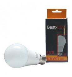 BEST-LED žárovka E27, 240V, 9W, 730lm-870lm, 3000K